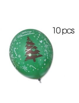 "10 Pcs 12"" Christmas Latex Balloons"