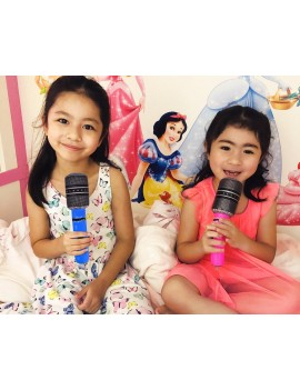 6 Pieces 24cm Inflatable Microphone Balloon