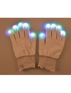 1 Pair Luminous Party LED Finger Lighting Gloves