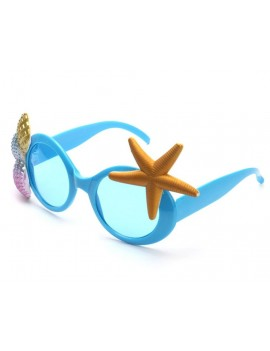 Beach Party Glasses Hawaiian Sunglasses - Blue