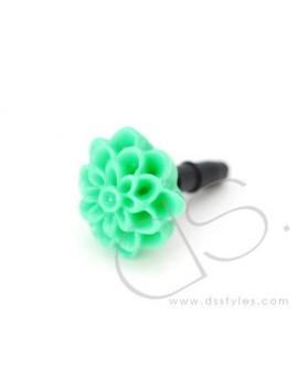 Headphone Jack Plug - Flower Green