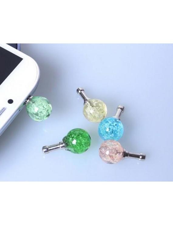 Luminous Ball Headphone Jack Plug - Blue