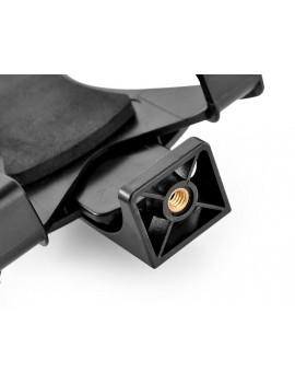 Tablet Mount Holder for Selfie Stick and Tripod - Black