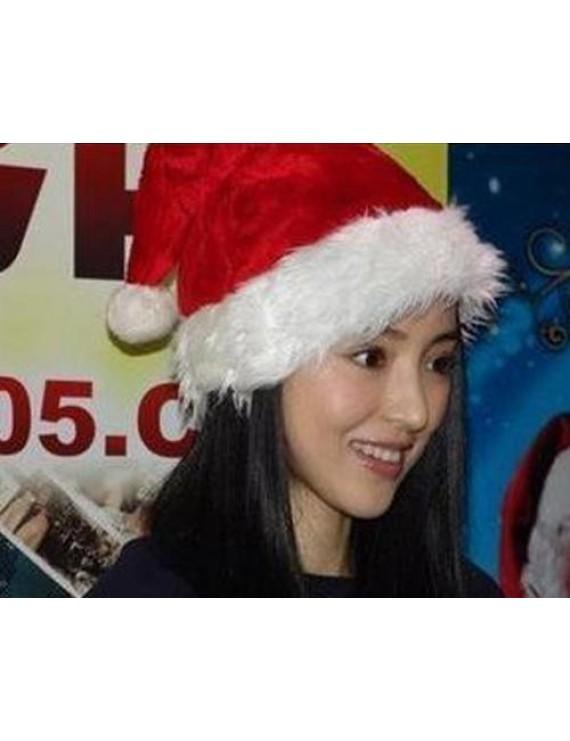 Christmas Decoration Plush Santa Hat - Red