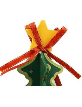 Christmas Tree Rotating Wooden Music Box