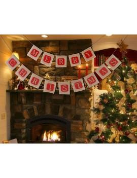 Christmas Banner Jute Burlap Banner for Christmas Decoration