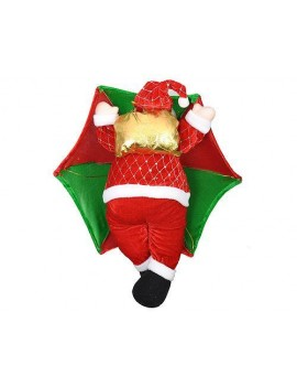 Santa Claus in Parachute Christmas Hanging Decoration