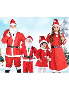 Adult Christmas Santa Claus Costume Suit Set